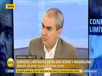 Velarde dice que límites con Magdalena están fijados desde 1931