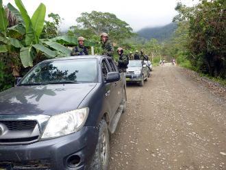 Vraem: detienen a cuatro presuntos narcotraficantes