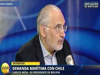Carlos Mesa: Bolivia no le pide a Chile negociar el tratado de 1904