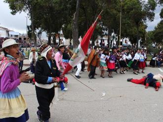 Junín: con dramatismo reviven gesta heroica del 9 de Julio en Concepción