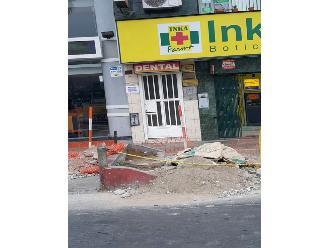 Los Olivos: desmonte de obra interrumpe cruce peatonal
