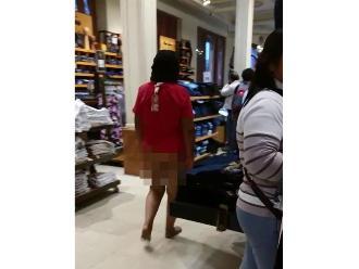 Whatsapp: Mujer desnuda ingresa a tienda por departamentos