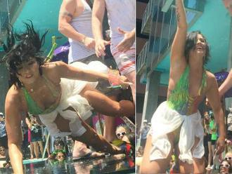 Demi Lovato se cayó de cara durante presentación de single