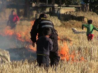 Huancayo: controlan incendio forestal en Chilca