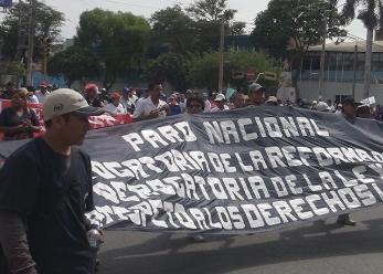 Lambayeque: más de 40 organizaciones acatarán paro convocado por la CGTP