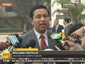 William Castillo: Este es el último proceso a favor de Fujimori