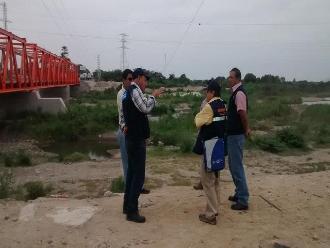 Chiclayo: evaluación de campo a río Reque para obras de descolmatación