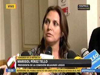 Pérez Tello aclara que Rocío Calderón no está en calidad de investigada