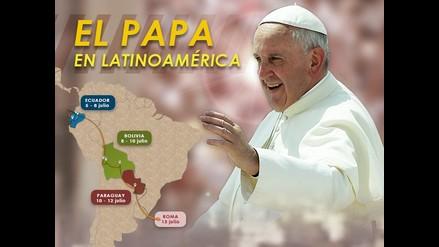 Interactivo: El papa Francisco en Latinoamérica