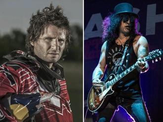 Rally Dakar: Argentino Patronelli junto al exguitarrista de Guns N' Roses