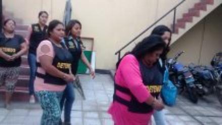 Chimbote: capturan a tres mujeres con más de cinco mil ketes de pbc