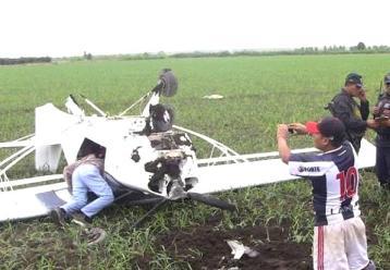 Avioneta particular cae en fundo de San Vicente de Cañete