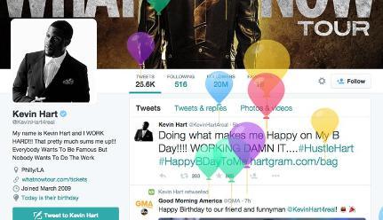 Twitter mostrará globos en la página de tu perfil el día de tu cumpleaños