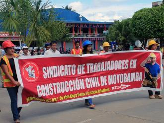 Moyobamba: paralizan obras de asfaltado de carretera Soritor-Selva Alegre