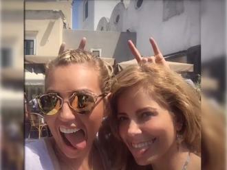 Thalía y Gloria Trevi se encontraron en Italia