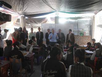 Ayacucho: Minedu constata desarrollo de clases en condiciones deplorables