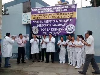 Chiclayo: médicos legistas acatan paro de 24 horas por beneficios