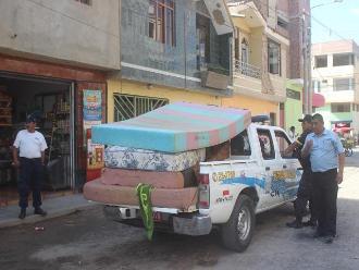 Chiclayo: Decomisan colchones sucios de hospedaje