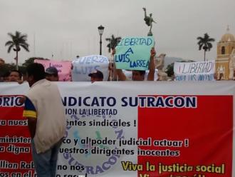 Trujillo: Trabajadores de Construcción Civil exigen libertad de detenidos