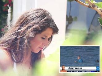 Mick Fanning: Sofía Mulanovich lloró al ver que un tiburón lo atacó