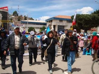 Puno: instan protestar contra traslado de reos a penal de Juliaca