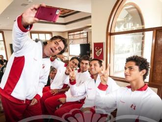 Copa Davis: Pablo Arraya y su celebración al estilo Luis Advíncula