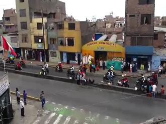 WhatsApp: caravana de motociclistas sorprendió en vecinos de SMP