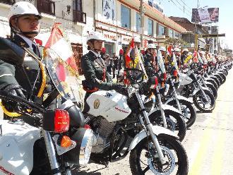 Huancayo: Mininter entrega 130 motocicletas para redoblar seguridad