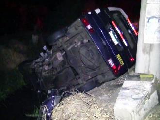 Barranca: delincuente muere tras despiste de vehículo que robó