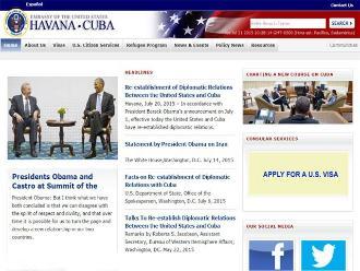 Embajadas de EE.UU. y Cuba también se estrenaron en internet
