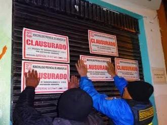 Andahuaylas: clausuran locales nocturnos sin licencia de funcionamiento