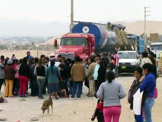 Ica: pobladores tomaron vía para exigir servicios básicos