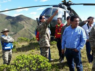 Piura: helicópteros con refuerzos volaron hacia Ayabaca
