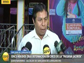 Alcalde de SJL insiste en patrullaje de FF.AA. tras ataque a circo