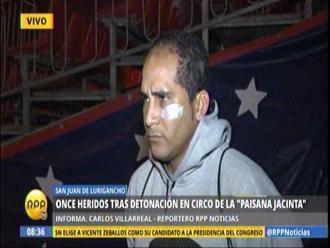 Trabajador de circo atacado dice que no vio nada sospechoso