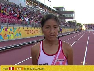 Inés Melchor: Corrí los 10 mil metros con un desgarro