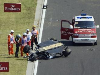 Fórmula Uno: Sergio Pérez sale ileso de espectacular accidente en Hungría