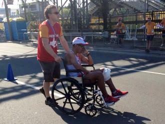 Toronto 2015: El llanto de Pavel Chihuán tras retiro de los 50 kilómetros marcha