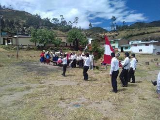 Lambayeque: alumnos de zona andina desfilaron con patriotismo