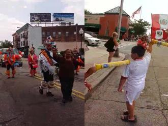 WhatsApp: peruanos en Estados Unidos realizan desfile por Fiestas Patrias
