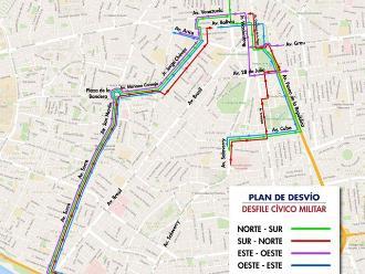 Fiestas Patrias: conoce los desvíos vehiculares por la Parada Militar