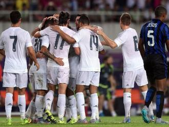 Real Madrid golea al Inter con goles de Jesé, Varane y James Rodríguez