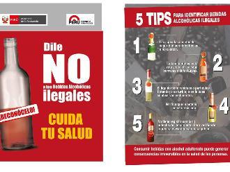 Huancayo: inician cruzada contra consumo de bebidas alcohólicas adulteradas