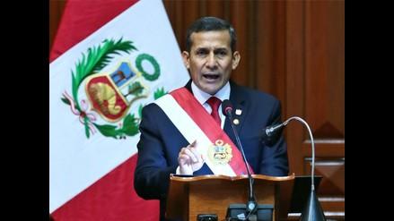 Los puntos clave del último mensaje al Congreso de Ollanta Humala