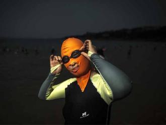 Facekini: conoce la moda china para protegerse del sol