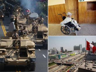 Resumen: Doce mil personas participaron de la Parada Militar, peruanos con discapacidad severa cobrarán pensión y recortan crecimiento de economía peruana a 3,6% este año