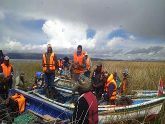 Puno: buscan a pescador que desapareció tras caer al lago Titicaca