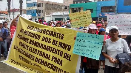 Chimbote: comerciantes del Dos de Mayo piden anular elecciones