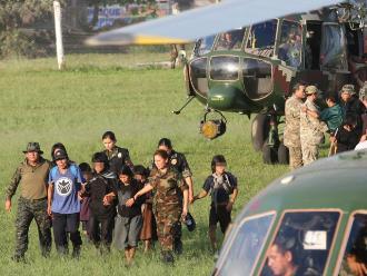 Vraem: Fuerzas del orden rescatan a otros siete niños y ocho adultos