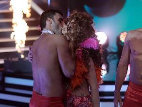 El Gran Show: Janet Barboza besó apasionadamente a su soñador
